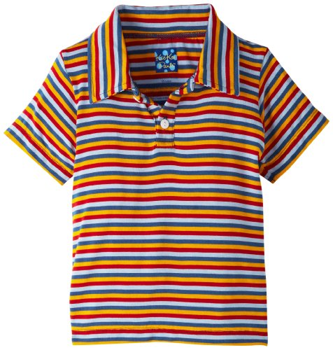 Kickee Pants Baby-Boys Infant Print Short Sleeve Polo, Circus Stripe, 3-6 Months front-376547
