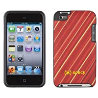 Speck Fitted Hard Case w/ Fabric for iPod Touch 4G - YikeStripe Red/Yellow