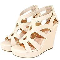 Women Gladiator High Wedge Platform Sandal Shoes