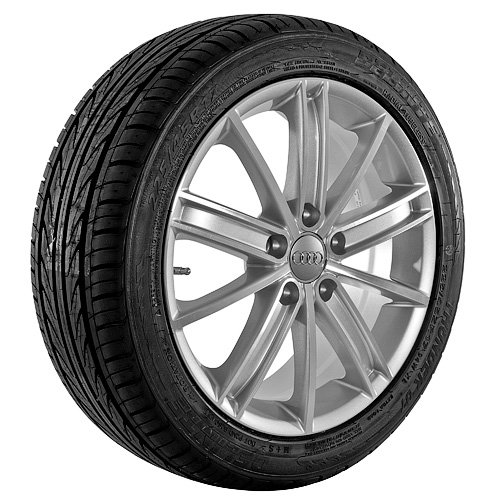 17 Inch Silver 280 Series Wheels Rims and Tires
