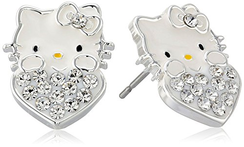 Hello-Kitty-Girls-Crystal-Birthstone-Heart-Stud-Earrings
