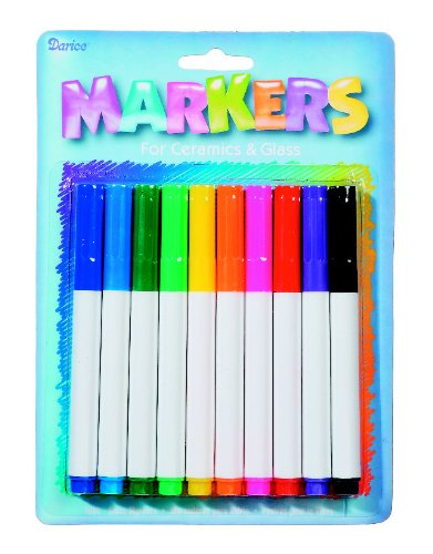 WeGlow International Markers for Ceramic and Glass, Set of 10