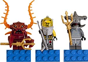 LEGO Atlantis magnet set [Lobster Guardian, Ace Speedman captain, hammer head guardian] / LEGO Atlantis Magnet Set: Lobster Guardian, Captain Ace Speedman and Hammerhead Guardian 853087 [domestic distribution regular article] (japan import)
