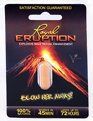 Royal Eruption All Natural Vegan Male Sexual Performance Enhancer Pill (1 Pack)