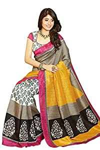 Vibes Women's Bhagalpuri Art Silk Saree,With Blouse (VS51-VBK118_Multi)