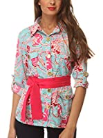 Almatrichi Camisa Mujer Sky (Multicolor)