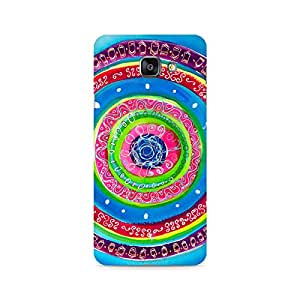 Mobicture Concentric Circle Doodle Premium Printed Case For Samsung A510 2016 Version