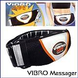 Chialstar Waist & Hip Trimmer Body Shaper Sauna Belt Vibrator (Black+White)