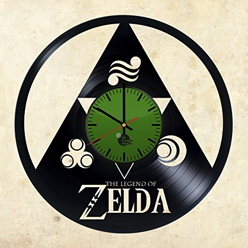 Zelda-Triforce-HANDMADE-Vinyl-Record-Wall-Clock-Get-unique-home-office-wall-decor-Gift-ideas-for-kids-girls-and-boys-Legend-of-Zelda-Unique-Art-Leave-us-a-feedback-and-win-your-custom-clock