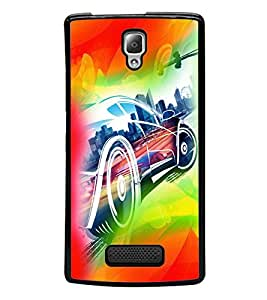 printtech Superfast car Back Case Cover for Lenovo A2010