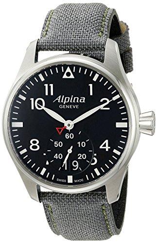 Alpina-Mens-AL-280B4S6-Startimer-Pilot-Big-Date-Analog-Display-Swiss-Quartz-Black-Watch