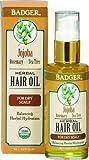 Badger Jojoba Hair Oil - For Dry Scalp,59.1ml/2 fl.OZ.