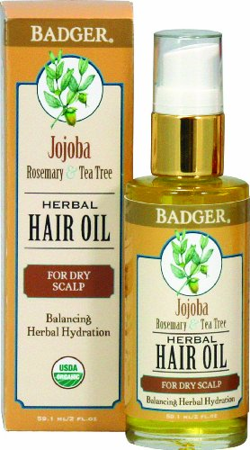Badger Jojoba Hair Oil - For Dry Scalp