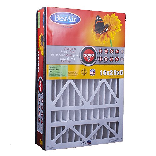 BestAir AB1625-11R Trion Air Bear Pleated Filter 16x25x5 (Air Filter Pleated 16 X 25 X 5 compare prices)