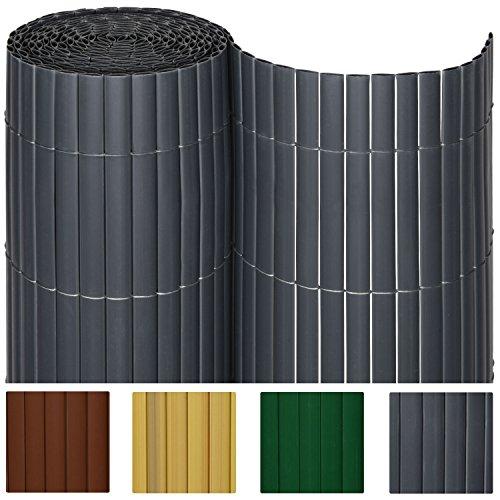 sol royal pvc sichtschutz zaun 140x400cm in anthrazit kunststoff matten f r garten oder. Black Bedroom Furniture Sets. Home Design Ideas