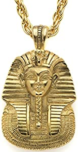 Authentic Reproduction of King Tut Mask Pendant, From Our Museum Store Collection