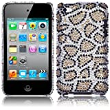 APPLE IPOD TOUCH 4TH GEN LEOPARD SPOTS DIAMANTE CASE / COVER / SHELL / SHIELD PART OF THE QUBITS ACCESSORIES RANGEby Qubits