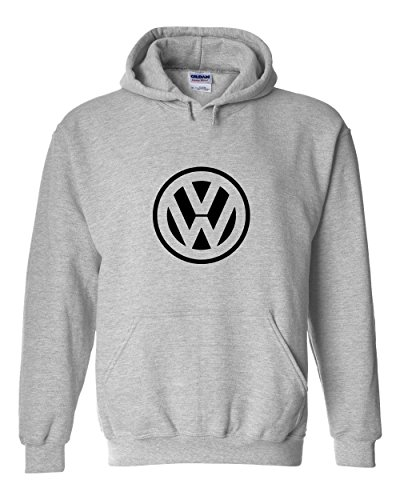 Vintage VW Hoodie | Volkswagen Fan Hooded Sweatshirt | Mens Grey X-Large (Vintage Vw compare prices)
