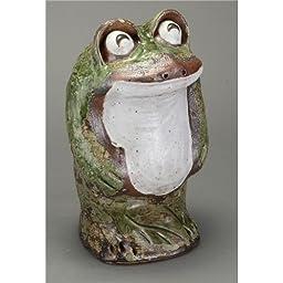 Shigaraki Shigaraki walk laugh Standing frog [ large ] 358-02