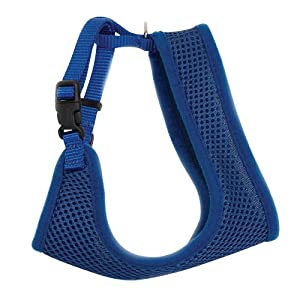 Comfort Soft Adjustable Mesh Cat Harness – Blue – (14″ to 16″ girth)