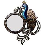 Ghanshyam Art Wood Peacock Wall Mirror (33.02 Cm X 4 Cm X 40.64 Cm, GAC090)