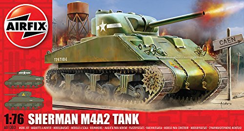Airfix A01303 1:76 Scale Sherman M4 Mk1 Tank Military Vehicles Classic Kit Series 1 (1 25 Scale Tank Model Kit compare prices)