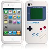 Shop4 White Retro Game boy Silicone Skin Case Cover for Apple iPhone 4 / 4S