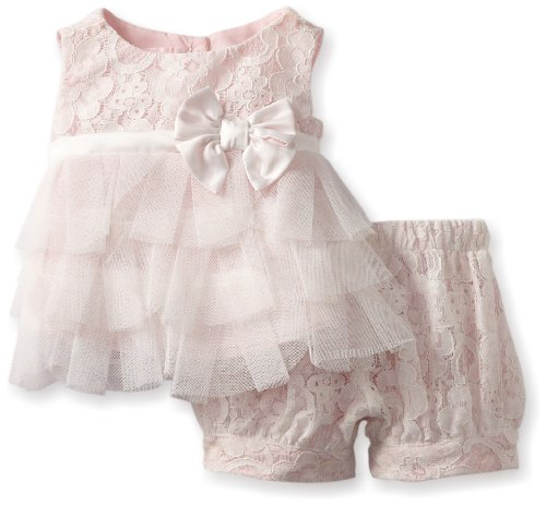 #1 Biscotti Baby-girls Newborn Tea for Two Top and Bloomer, Ivory/Pink, 9 Months  Review