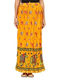 Saadgi Rajasthani Hand Block Printed Handcrafted Ethnic Lehnga Skirt For Women/Girls - B06XGJLCNZ