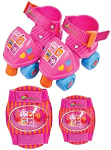 Lalaloopsy Adjustable Toy Skates with Knee and Elbow Pads (Multi)