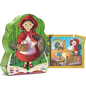 Djeco / Shaped Box Puzzle, Little Red Riding Hood