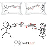 "BOLDLOFT® ""You're so Beautiful...to me"" Couple Pillowcases-Cute Couple Gifts,Romantic Anniversary Gifts,Wedding Gifts for Couple,Valentine's Day Gifts,Cute Birthday Gifts,Gifts for Him,Gifts for Her"