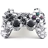 Ansito Wireless Bluetooth Double Vibration Game Controller With Skull Pattern For Ps3