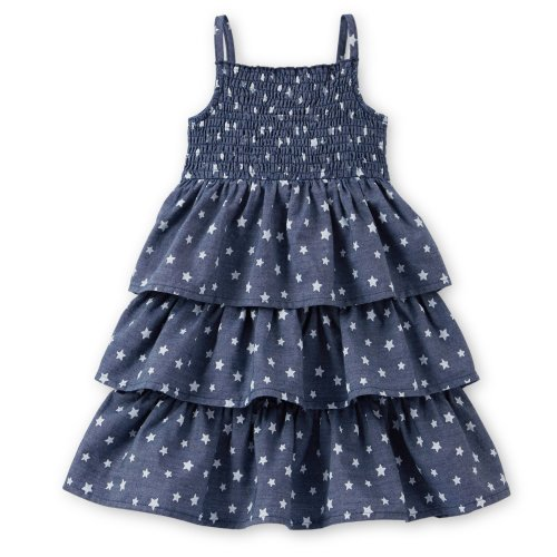 Carter'S Girls 4Th Of July Chambray Star Sundress (5 Toddler) front-137420