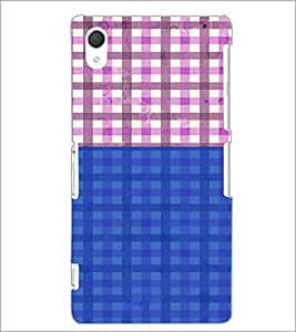 PrintDhaba Check Pattern D-4439 Back Case Cover for SONY XPERIA Z2 (Multi-Coloured)