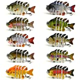 "3"" Crazy Panfish Series Multi Jointed Fishing Hard Lure Bait Swimbait Life-like"