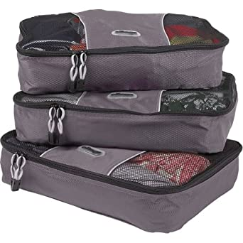 eBags Medium Packing Cubes - 3pc Set (Titanium)