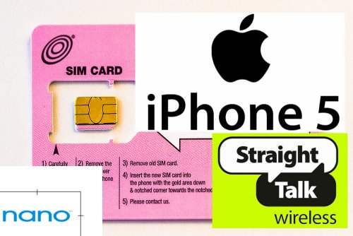 Straight Talk Nano Sim Card For Iphone 5. For T-Mobile & Unlocked Gsm Iphone 5