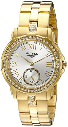 Elysee Melissa Femme 33mm Doré Acier Inoxydable Bracelet Montre 22004S