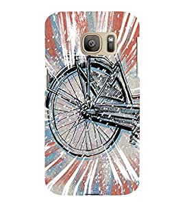 Stylish cycle Back Case Cover for Samsung Galaxy S7