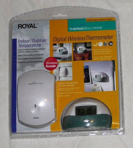 Royal ThermoSolutions Digital Wireless Thermometer - Desktop Weather Station WS10
