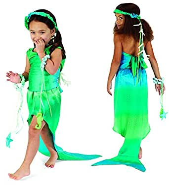 Green/Turquoise Mermaid Costume, 3 Pieces