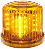 Fortune PL-300AJ Battery Powered Ultra Bright LED Standard Police Beacon, 5″ Diameter x 5″ Height, Amber