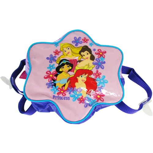 "Star Shaped PURPLE Disney Princess Backpack for Girls (10""x10""x3"") - 1"