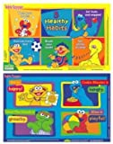 Sesame Street Table Topper Disposable Stick-on Placemats with Reusable Pop-up Travel Case - 50 Count