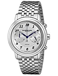 Raymond Weil Men's Maestro 41mm Chronograph Steel Bracelet & Case Automatic Watch 4830-ST-05659