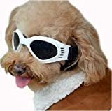 Enjoying Pet/Dog Puppy UV Goggles Sunglasses Waterproof Protection Sun Glasses For Dog - White