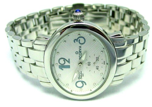 Scorva Womens Solid Stainless Steel Watch With