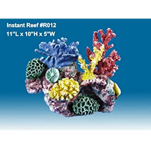 Instant Reef #R012 Artificial Coral Reef Aquarium Decor for Saltwater Fish, Marine Fish Tanks and Freshwater Fish Aquariums