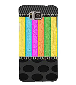 PrintVisa Girly Colorful Pattern 3D Hard Polycarbonate Designer Back Case Cover for Samsung Galaxy Alpha